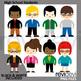 Teachers clipart (Adult people clip art bundle)