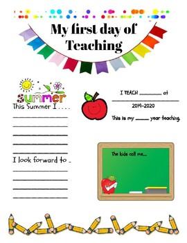 Teachers first day