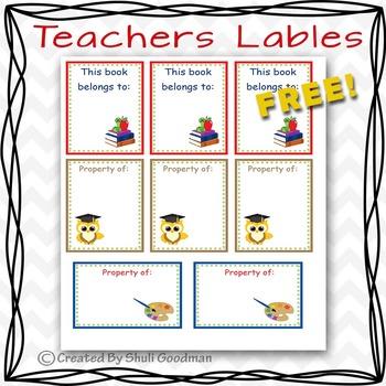 Teachers lables