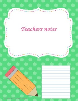 Teachers notes