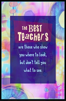 Teachers show you where to look poster