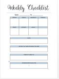 Teachers weekly checklist