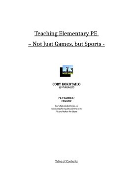 Teaching Elementary PE - Not Just Games, But Sports!
