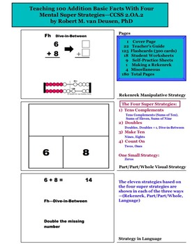 Teaching 100 Addition Basic Facts With 4 Mental Super Strategies—CCSS 2.OA.B.2