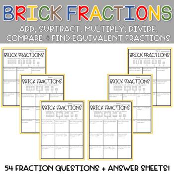 Solving Fraction Equations Using Building Bricks 4th Grade Math