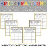 Solving Fraction Equations Using Building Bricks 4th Grade