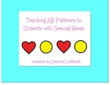 Teaching AB patterns to Students with Special Needs
