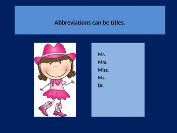 Teaching Abbreviations with a power point presentation.  Lesson.
