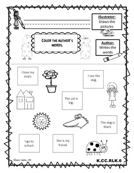 Teaching About Author & Illustrator (Common Core Aligned)