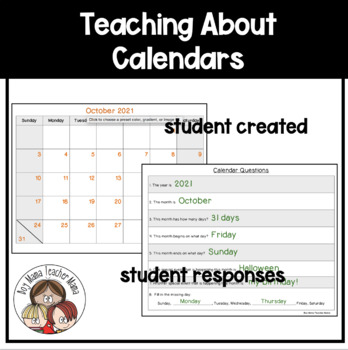 Teaching About Calendars and Activity Sheets by Boy Mama Teacher Mama