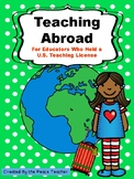 Teaching Abroad - Freebie!