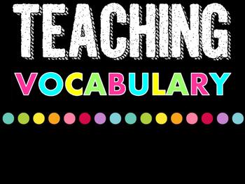 Teaching Academic Vocabulary