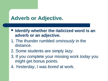 Teaching Adverbs Powerpoint