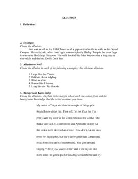 Teaching Allusions: A Lengthy Lesson Plan on Allusions in Poetry