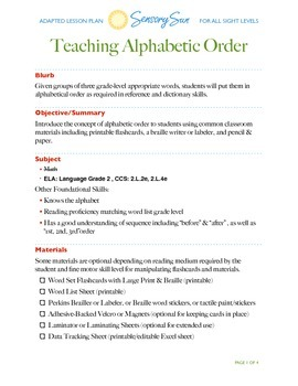 Teaching Alphabetic Order 2nd Grade (CCSS Aligned) ABC Order