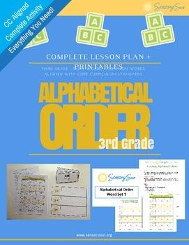 Teaching Alphabetic Order 3rd Grade (CCSS Aligned) ABC Order