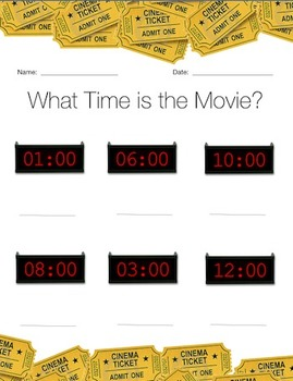 Teaching Analog & Digital Time with Movies!