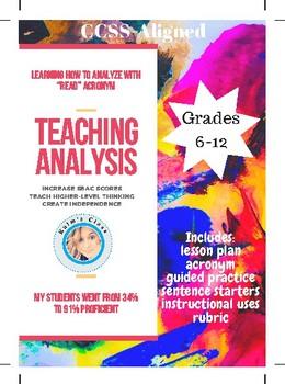 ANALYSIS: Teaching Through READing