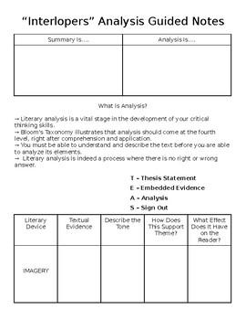 Teaching Analysis Using Interlopers