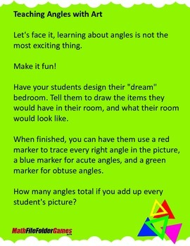 Teaching Angles with Art {Math Activity}
