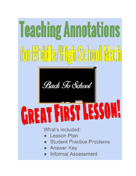 Teaching Annotations with Base Ten & Exponents Review