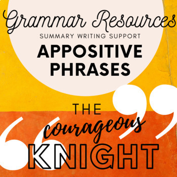 Teaching Appositive Phrases (to support summary writing)