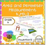 Teaching Area & Perimeter PowerPoint - 4th Grade Measurement (4.MD.3)