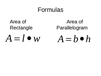 Teaching Area of Parallelogram