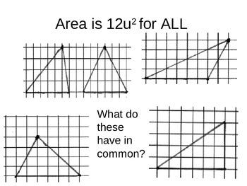 Teaching Area of Triangle