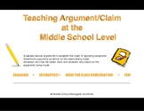 Teaching Argument/Claim Through Argument Analysis and Delination