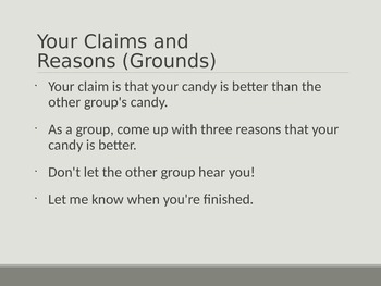 Teaching Argument / Persuasion Papers With Candy PowerPoint