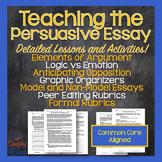 Persuasive Argumentative Essay Unit - Logic, Sample Essays, Peer Edit
