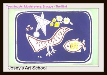 Art History Lesson Braque Prek - 2 Art The Bird Common Core ELA Biography