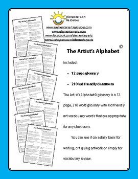 Teaching Art To Children - Art Glossary Of Visual Arts Vocabulary Dictionary