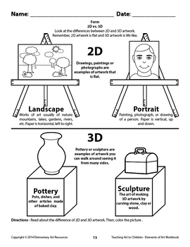 Teaching Art To Children - Elements Of Art - 28 Page Section about Form