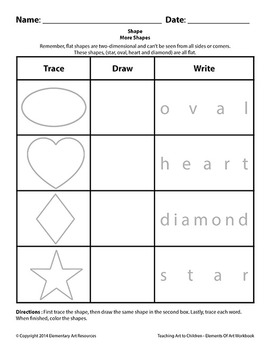 Teaching Art To Children - Elements Of Art 2D Shapes Tracing Circle, Triangle