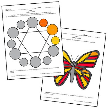 Teaching Art To Children - Elements Of Art Analogous Colors with Color Wheel
