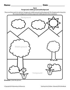 Teaching Art To Children - Elements Of Art Foreground, middleground & background