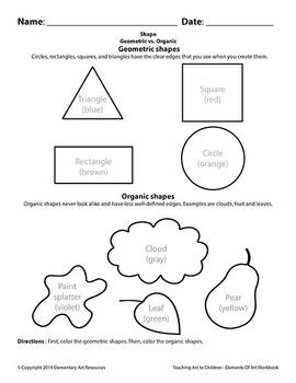 Teaching Art To Children - Elements Of Art Geometric Vs. Organic Shapes Color