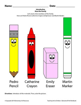 Teaching Art To Children -Meet And Learn About Art Supplies Crayons