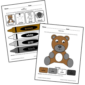 Teaching Art To Children - Elements Of Art Neutral Colors With Teddy Bear