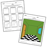 Teaching Art To Children - Elements Of Art One Point Perspective and Space