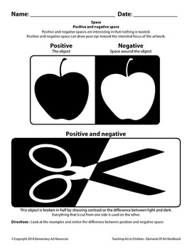 Teaching Art To Children - Elements Of Art Positive and Negative space