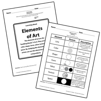 Teaching Art To Children - Elements Of Art Review Line, Shape, Color, Form