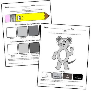 Teaching Art To Children - Elements Of Art, Value, Pencil Value Scale & Shading