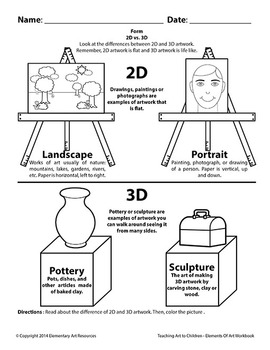 Teaching Art To Children - Landscape Vs. Portrait 2D and 3D Pottery Sculpture
