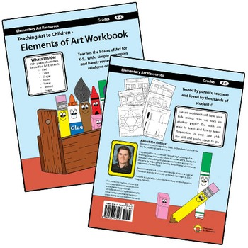 Teaching Art to Children Elements of Art Workbook - 200+ Worksheets on Elements