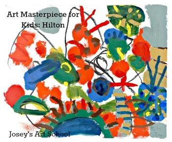 Art Lesson Teach Hilton to PreK-3rd Grade Foliage Orange Caterpillar Art History
