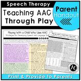 AAC Parent Handout for Speech and Language Development Dis