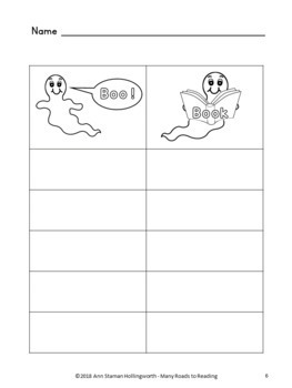 Teaching BOO! at Halloween time FREEBIE